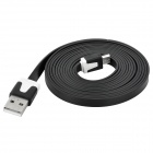 USB Male to 5-Pin Micro USB Male Flat Charging / Data Cable - Black (200cm)