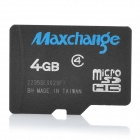 Maxchange Micro SD / TF Memory Card - Black (4GB / Class 4)