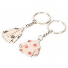 Chinese Tang Suit Style Metal Keychain - Silver (2 PCS)