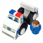 Cute Wood Tumble Policeman Police Car Toy