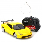 Mini 1:18 Scale 2-CH 27MHz Radio Control R/C Car Model - Yellow + Black (4 x AA)