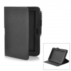 Protective PU Leather Case w/ Stylus Pen for Samsung Galaxy Note 10.1 GT-N8000 - Black