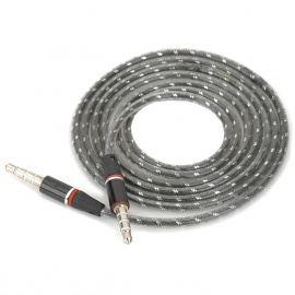 3.5mm TRRS Male to 3.5mm Male Audio Cable - Grey