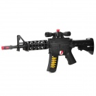 Machine Gun Toy with Flash Light & Firing Sound Effects - Black (4 x AA)