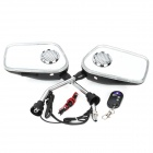Motorcycle MP3 Player Rearview Mirror Speaker w/ FM / SD / Alarm Remote Controller (Pair)