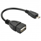 Micro USB Male to USB Female OTG Adapter Cable for Samsung Galaxy S3 / i9300 - Black (8cm)