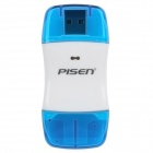 Pisen High-Speed ​​USB 2.0 SD Card Reader - Transparent Blue + White (max. 64GB)