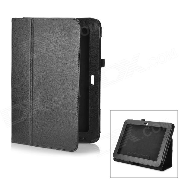 Lychee Pattern Protective PU Leather Case for Samsung Galaxy Note 10.1 GT-N8000 - Black планшет samsung galaxy note 10 1 16gb gt n8000 black