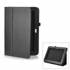 Lychee Pattern Protective PU Leather Case for Samsung Galaxy Note 10.1 GT-N8000 - Black