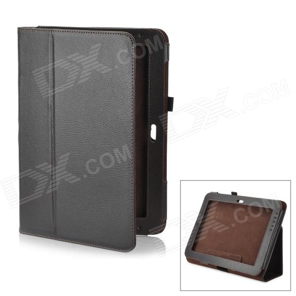 Lychee Pattern Protective PU Leather Case for Samsung Galaxy Note 10.1 GT-N8000 - Coffee планшет samsung galaxy note 10 1 16gb gt n8000 black