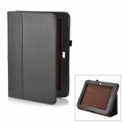 Lychee Pattern Protective PU Leather Case for Samsung Galaxy Note 10.1 GT-N8000 - Coffee