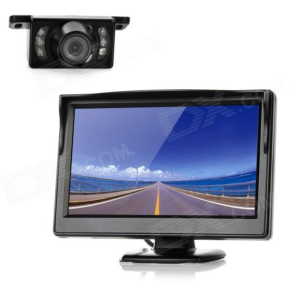 "5.0 ""LCD Car Rear-View suporte Security Monitor + Camera w / 5 IR LED grupo (480 x 272 Pixels)"