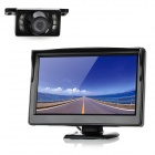 5.0&quot; LCD Car Rear-View Stand Security Monitor + Camera w/ 5-IR LED Kit (480 x 272 Pixels)