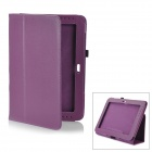 Lychee Pattern Protective PU Leather Case for Samsung Galaxy Note 10.1 GT-N8000 - Purple