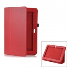 Lychee Pattern Protective PU Leather Case for Samsung Galaxy Note 10.1 GT-N8000 - Red