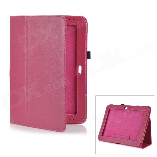 Lychee Pattern Protective PU Leather Case for Samsung Galaxy Note 10.1 GT-N8000 - Deep Pink планшет samsung galaxy note 10 1 16gb gt n8000 black