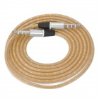 3.5mm TRRS Male to 3.5mm Male Audio Cable - Golden