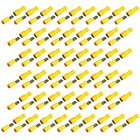 Protection Insulated Female + Male Blade Connectors - Yellow (50-Pair)