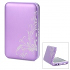 Smart 4200mAh Solar / DC / USB Powered Emergency Battery for iPod / iPhone - Purple