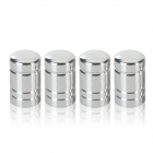 Aluminum Alloy Car Tire Valve Caps - Silver (4 PCS)