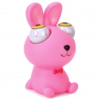 Cartoon Rabbit Style Eyes Pop Out Stress Reliever Relief Squeeze Toy - Pink