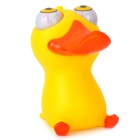 Cartoon Duck Style Eyes Pop Out Stress Reliever Relief Squeeze Toy - Yellow + Orange
