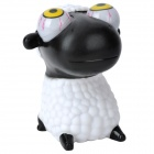 Cartoon Sheep Style Eyes Pop Out Stress Reliever Relief Squeeze Toy - Black + White