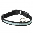 Adjustable 3-Mode Blue Light LED Strip Nylon Pet Safety Collar - Black (2 x CR2032)