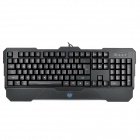 AULA Dragon Tooth USB 2.0 104-Key 4-Mode Backlit Wired Gaming Keyboard - Black (175cm-Cable)
