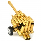 Creative Iron Bullet Shell Handicraft Two Wheels Cannon Display Model - Golden