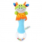 Cute Cow Pattern Baby Hand Bell - Blue + Green