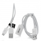 2-in-1 USB Male to Female + USB-Stecker an Micro USB Charging Data Cable Set - White
