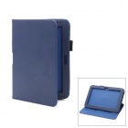 Protective PU Leather Case w/ Stylus for Samsung Galaxy Note 10.1 / GT-N8000 - Deep Blue
