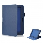 Detachable Protective PU Leather Case for Samsung Galaxy Note 10.1 / GT-N8000 - Deep Blue