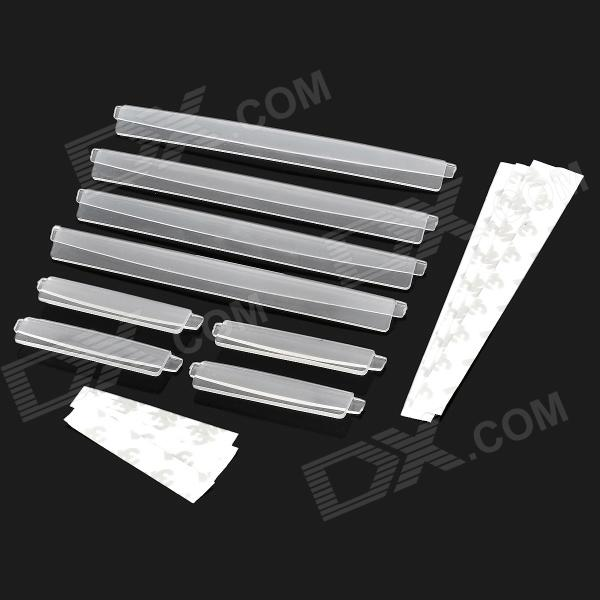Decorative Car Crash Barriers Door Guard Strip Protectors Set - Translucent