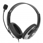 KOMC KM9600 USB Powered Headphone w/ Microphone - Black (220cm)