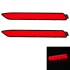 0.65W 270lm 13-LED Red Light - Red (2 PCS)