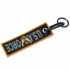 Flying Eagle Woven Label Multifunction Carabiner Clip Keychain Set - Black + Yellow