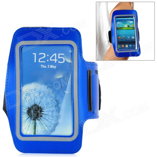 Outdoor Sports Armband for Samsung Galaxy S3 i9300 - Deep Blue