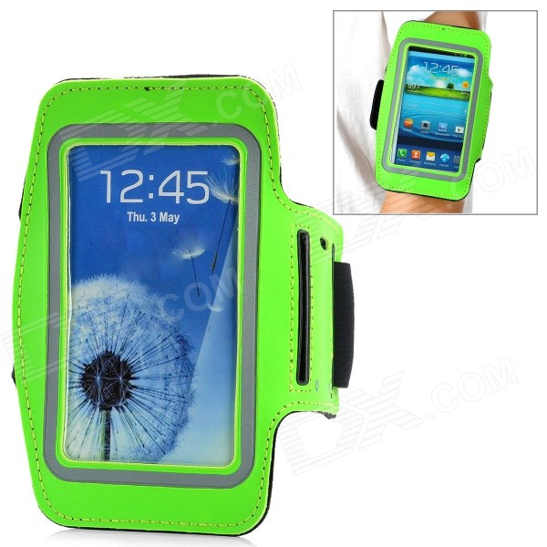 Outdoor Sports Armband for Samsung Galaxy S3 i9300 - Green