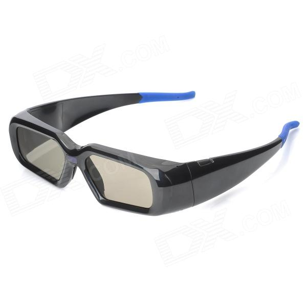 Rechargeable LCD Lens Shutter 3D Glasses for Projector - Black + Blue