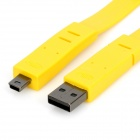 USB 2.0 Male to Mini USB Male Flat Cable - Yellow (150cm)