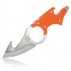 Y-START Outdoor Survival Camping Multi-Funktions-Knife w / Neck Strap - Orange