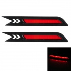 0.6W 360lm 12-LED Red Light Car Bremslicht für Honda CRV2010 - Red + Black (2 PCS)