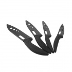 "3"" / 4"" / 5"" / 6"" Kitchen Ceramic Knife Set - Black (4 PCS)"