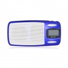 "1.1"" LCD Mini Music Speaker w / FM / USB / TF / 3.5mm Jack - Blue"