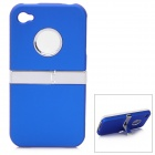 Protective Plastic Case with Stand Holder for Iphone 4 / 4S - Blue