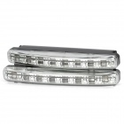0.4W 32lm 8-LED White Light Car Daytime Running Lamp (2 PCS / 12V)