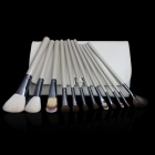 Professional 12-in-1 Cosmetic Makeup Brushes Set - White