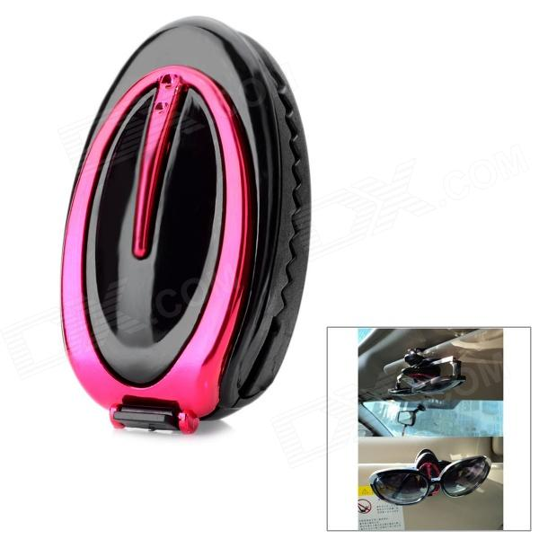 Car Vehicle Sun Visor Clip Sunglasses / Eyeglass Holder - Deep Pink + Black тонер картридж для лазерных аппаратов ricoh aficio mp c2800 c3300 черный type mpc3300e 20k 842043